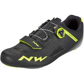 Northwave Core Plus Shoes Men black/yellow fluo